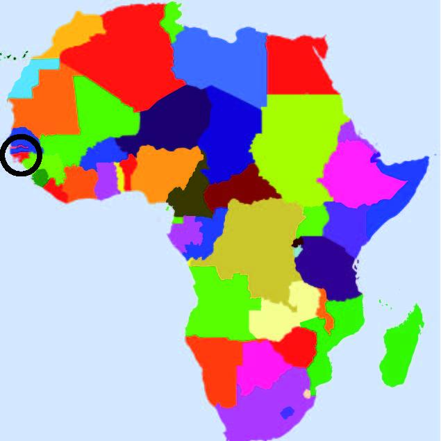 afrika afbeelding kaart nederland